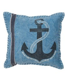 Blue Anchor Throw Pillow by Primitives by Kathy #zulily #zulilyfinds
