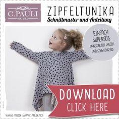 Download Schnittmuster Kinder Zipfeltunika