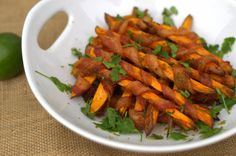 Cayenne and Lime Bacon-Wrapped Sweet Potato Fries