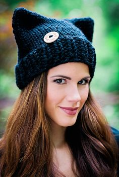 Black Cat Beanie Hat, the Perfect Knit Hat for Fall from Pattymac Knits and photographed by Pattymac Photos
