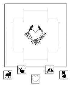Tea Box (2-piece) and Tea Bag Tags - Free PDF Printable.