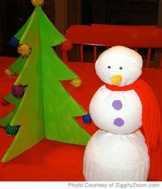 An easy homemade snowman craft for you kids that can also double as a holiday decoration! Fun! http://www.parenting.com/article/homemade-snowman-decoration