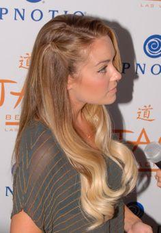 Trendy Wedding Hairstyles Half Up Half Down With Bangs Lauren Conrad Ideas Celebrity Hairstyles, Down Hairstyles, Trendy Hairstyles, Straight Hairstyles, Wedding Hairstyles, Gorgeous Hair, Beautiful, Amazing Hair, Pretty Hair