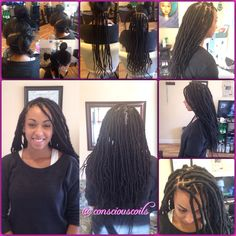 Style: Loc Extensions (Faux Locs) Hair Added: Hair Sense Marley Braid (6.5 bags) Products Used: Coiled! (Original Refresher Spray) by Conscious Coilsand Giovanni Direct Leave-in Conditioner  Time:6hrs 38mins Style Duration: 2-4months