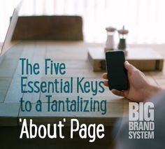 Your website's about page is really a sales page. Read on to find out best practices for tantalizing about pages.