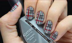 Plaid Nail Art - Nail Art con fantasia #tartan #nailart #fashion #moda #unghie