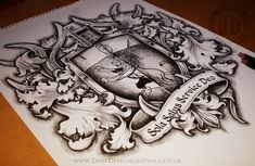 Coat Of Arms Tattoo Design From Dark Design Graphics