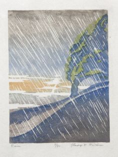 Rain by Gladys Wilkins Murphy, 1940.