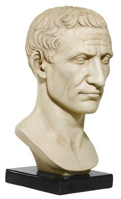 Julius Caesar Bust on Marble Base, Vatican Museum - Shop Museum Ancient Greek & Roman Sculpture & Statues