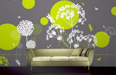 Green Lime Bedroom Wall Pict