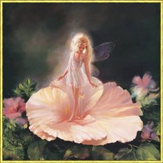 When I was little i was obsessed with Cicely Mary Barker's illustrations of the flower fairies. Fairy Dust, Fairy Land, Fairy Tales, Fantasy Kunst, Fantasy Art, Fantasy Fairies, Fantasy Paintings, Elves And Fairies, Fairy Pictures