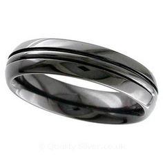 Geti Domed Band Zirconium Ring