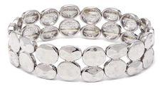 Double Dot Silver Bracelet.  Item #PB0110RD $12  Available at Impulse Gifts 812.481.2880 We ship daily.   https://www.facebook.com/ImpulseJasper