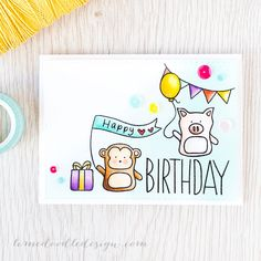 Such a Fun card by Debby Hughes using brand New Stamps by Simon Says Stamp