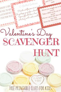 Looking for a fun activity for kids this Valentine's Day? Use these free printable valentines scavenger hunt clues to hide a little gift or treat for your kids and watch them solve the riddles to find the prize!