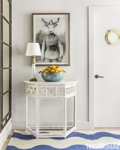 In designer Benjamin Dhong's house in California's wine country, a surreal print from CB2 greets you in the entryway.