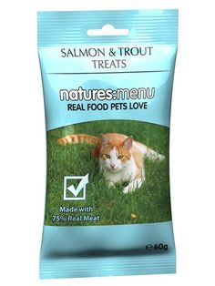 Natures Menu Cat Treats Salmon And Trout 65 G (Pack Of 12) *** For more information, visit image link.