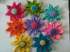 Ribbon Flowers.  Do colors really have to match?  I love color!