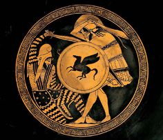 Classical Greece and Ancient Greek Warfare #10 - Red Figure Kylix Depicting Armor (Armour) of the Ancient Greek Hoplite