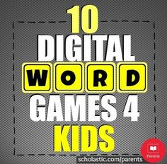 Recommendations for digital word games (online games and iPad apps).