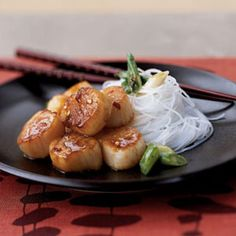 Seared Scallops with Citrus Ginger Sauce | MyRecipes.com