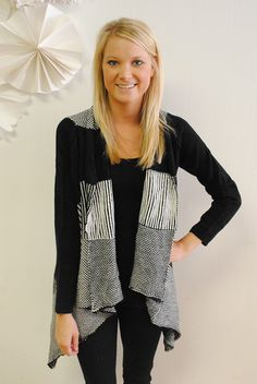 Stripes and Sweaters Open Cardigan