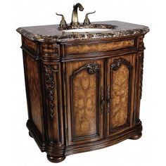 Ambella Home Ton 36 Traditional Single Sink Bathroom Vanity 08917 110 301 At