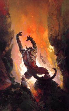 Frazetta - Le démon du feu - 1976