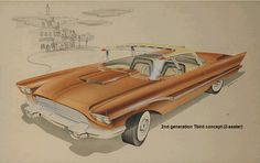 ca. 1950s ford thunderbird concept, (c) ford motor co.