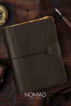 Naturally-tanned and crafted by Indian artisans with love and care, this vintage journal looks and smells like it's the real deal. Refillable Journal, Leather Bound Journal, Water Buffalo, Calligraphy Pens, Paper Book, Crazy Horse, Book Of Shadows, Vintage Paper