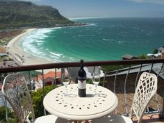 Self catering accommodation, Fish Hoek , Cape Town A glass of wine and the most breathtaking views are a definite from the balcony of Neptune's Rest. Outdoor Tables, Outdoor Decor, Cape Town, Apartments, Balcony, Catering, Rest, Outdoor Furniture, Wine