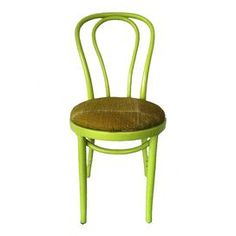 """Showcasing a retro bentwood silhouette, this vintage side chair is reimagined with a vibrant hand-painted finish and coordinating Marimekko upholstery.    Product: ChairConstruction Material: Beechwood and cotton blendColor: GreenFeatures: Hand-paintedDimensions: 35"""" H x 16"""" W x 16"""" DNote: Due to the vintage nature of this product, some wear and tear is to be expected. Products may show signs of brand marks, scrapes or other blemishes. Shipping: This item ships small parcelExpected Arrival…"""