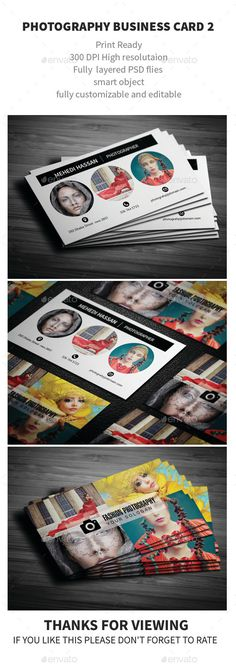 Fashion Photography Business Card Template #printdesign #visitenkarte Download: http://graphicriver.net/item/fashion-photography-business-card/12048118?ref=ksioks