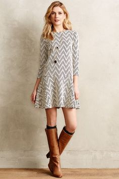 Chevron Crest #Dress #Anthropologie
