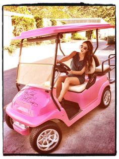 pink golf cart <3