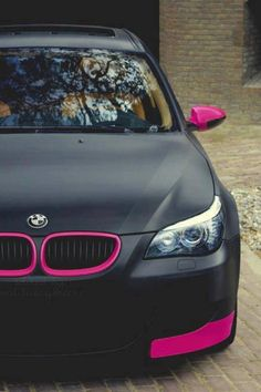 Pink and Black BMW.