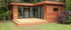 L Shape Contemporary Garden Room Summer House Garden, Home And Garden, Building A Sauna, Cute Small Houses, Contemporary Garden Rooms, Garden Design, House Design, Garden Office, Garden Buildings