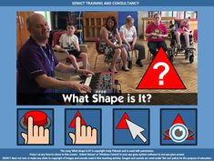 Whats Shape is it? from Andy Pidcock - free teaching activity for switch, touchscreen, pointing device and eye gaze users. Use online or download for Windows PC.