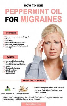 How to Cure a Migraines Fast with Peppermint oil Peppermint oil is a popular and effective home remedy for migraines. Keep reading this article to learn how to use peppermint oil for migraines. Migraine Home Remedies, Natural Headache Remedies, Migraine Relief, Migraine Oils, Chronic Migraines, Daily Health Tips, Health And Fitness Tips, Peppermint Oil For Migraines, Sensitivity To Sound