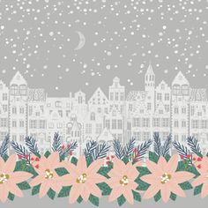 Comfort and Joy Fabric by Hawthorne Supply Co Comfort And Joy, Winter Night, Fabulous Fabrics, Modern Fabric, Simple Pleasures, Quilt Making, Fabric Patterns, Fabric Design, Miniature