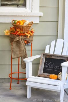 painted stand -- so cute on the porch