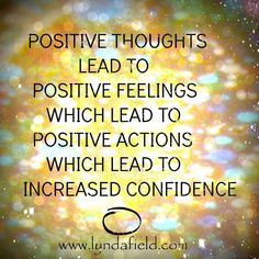 Positive Thoughts lead to positive feelings which lead to positive actions which lead to increased confidence. Positive Mindset, Positive Affirmations, Positive Thoughts, Positive Vibes, Positive Quotes, Positive Feelings, Inspirational Memes, Uplifting Quotes, Overcoming Depression