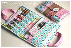 DIY Crayon Art Folio Sewing KIT: Sew Mama Sew Giveaway DAY! | Gingercake