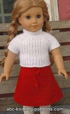Easy Crochet Doll Skirt Pattern : Free knit pattern skirt for american girl doll knitting ...