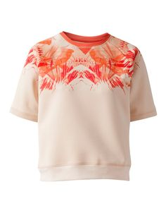 Top Thaima. Scuba is the wonderful material this sweater is made of. With a hand-painted Oilily design on the neckline.