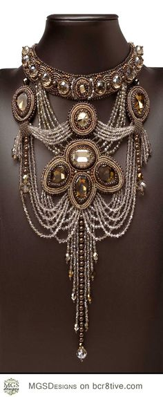 Over the top.... exaggerated .... statement necklace.... love it
