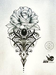 Rose Tattoo Stencil, Tattoo Stencil Designs, Lace Tattoo Design, Mandala Tattoo Design, Flower Tattoo Designs, Tattoo Designs Men, Cute Tattoos, Body Art Tattoos, Hand Tattoos