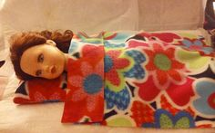 Colorful floral Fleece blanket & pillow set by KelleysKreationsLV