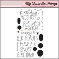 My Favorite Things Clear Stamp - Birthday Wishes & Balloons