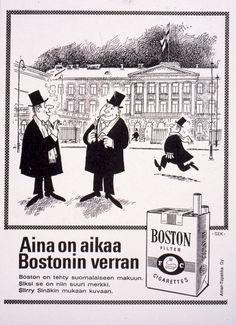 #Savukemainos #Cigarett #Cigarettes #Boston #Linnnanjuhlat #Itsenäisyyspäivä #Självständighetsdag #Independence Day Ecards, Boston, Memes, Movie Posters, Art, E Cards, Art Background, Meme, Film Poster